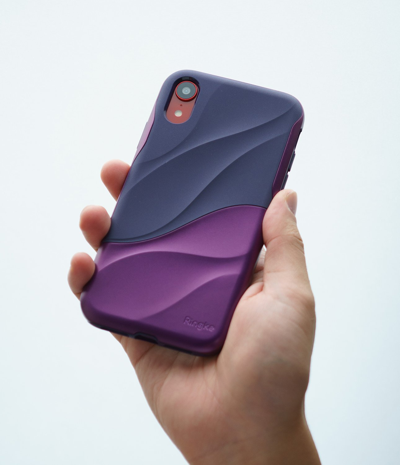 ringke wave for iphone xr case cover main metallic purple grip