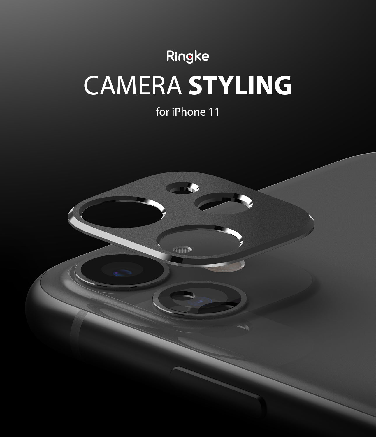 apple iphone 11 camera protector - ringke camera styling