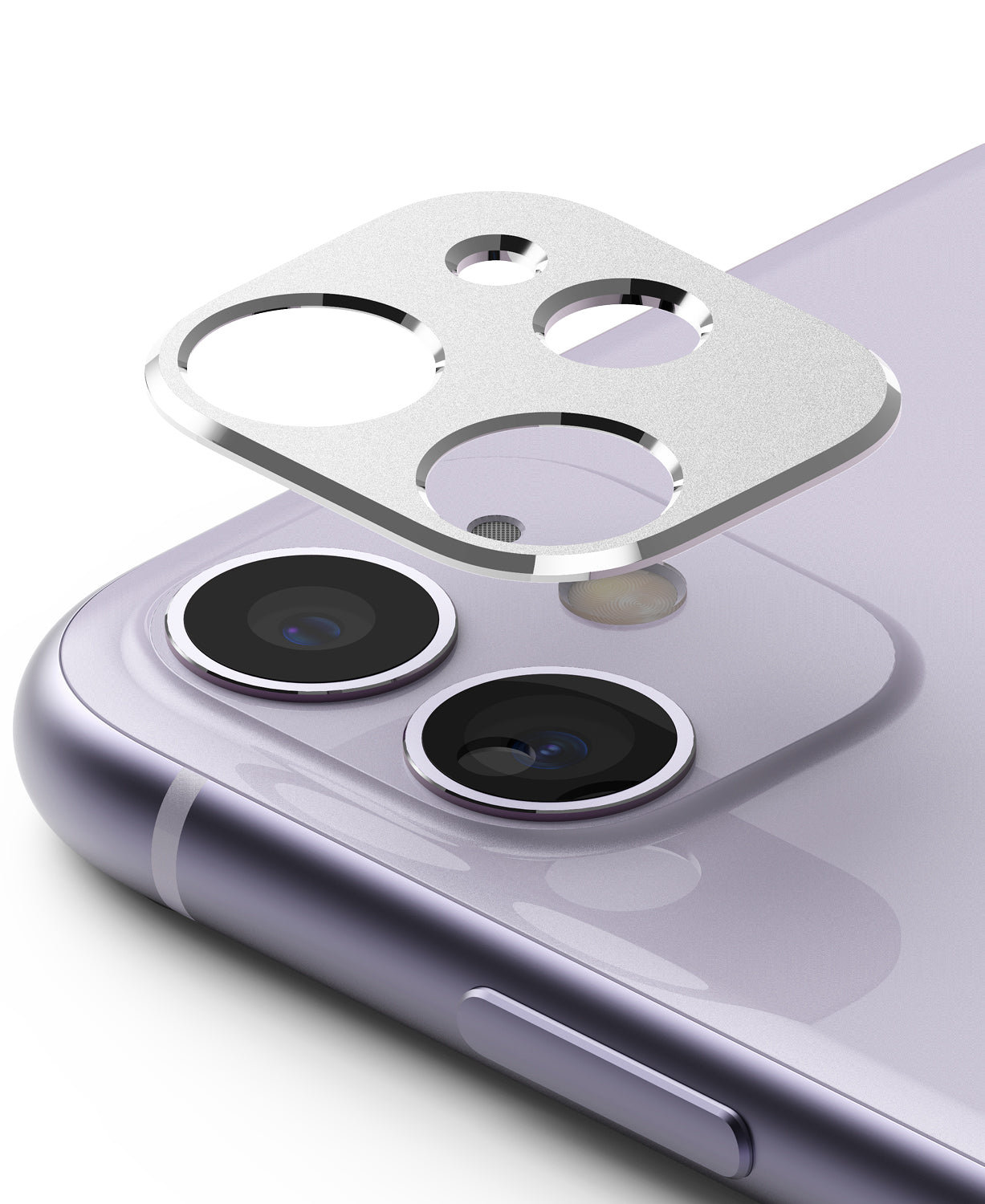 apple iphone 11 camera protector - ringke camera styling silver