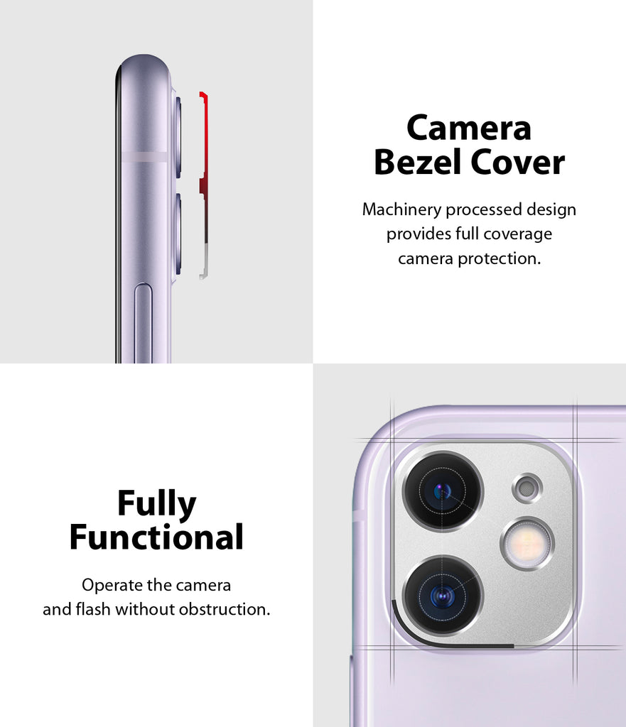 camera bezel cover, fully functional - operate the camera and flash without obstruction