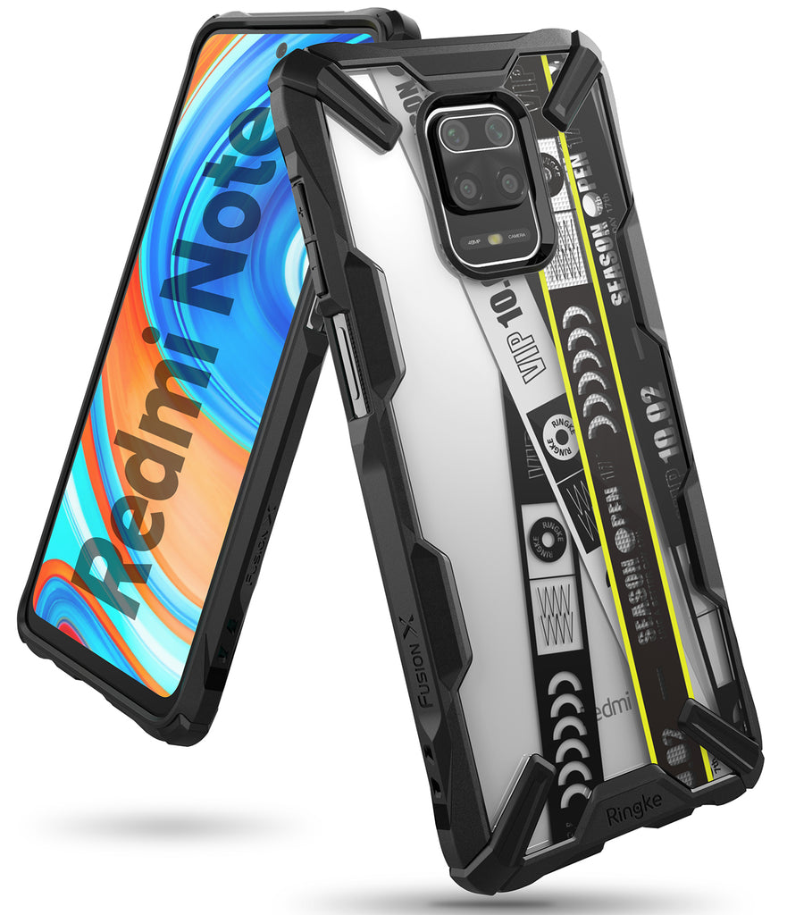 xiaomi redmi note 9 pro max / 9 pro / 9s case - ringke fusion-x design 01. ticket band