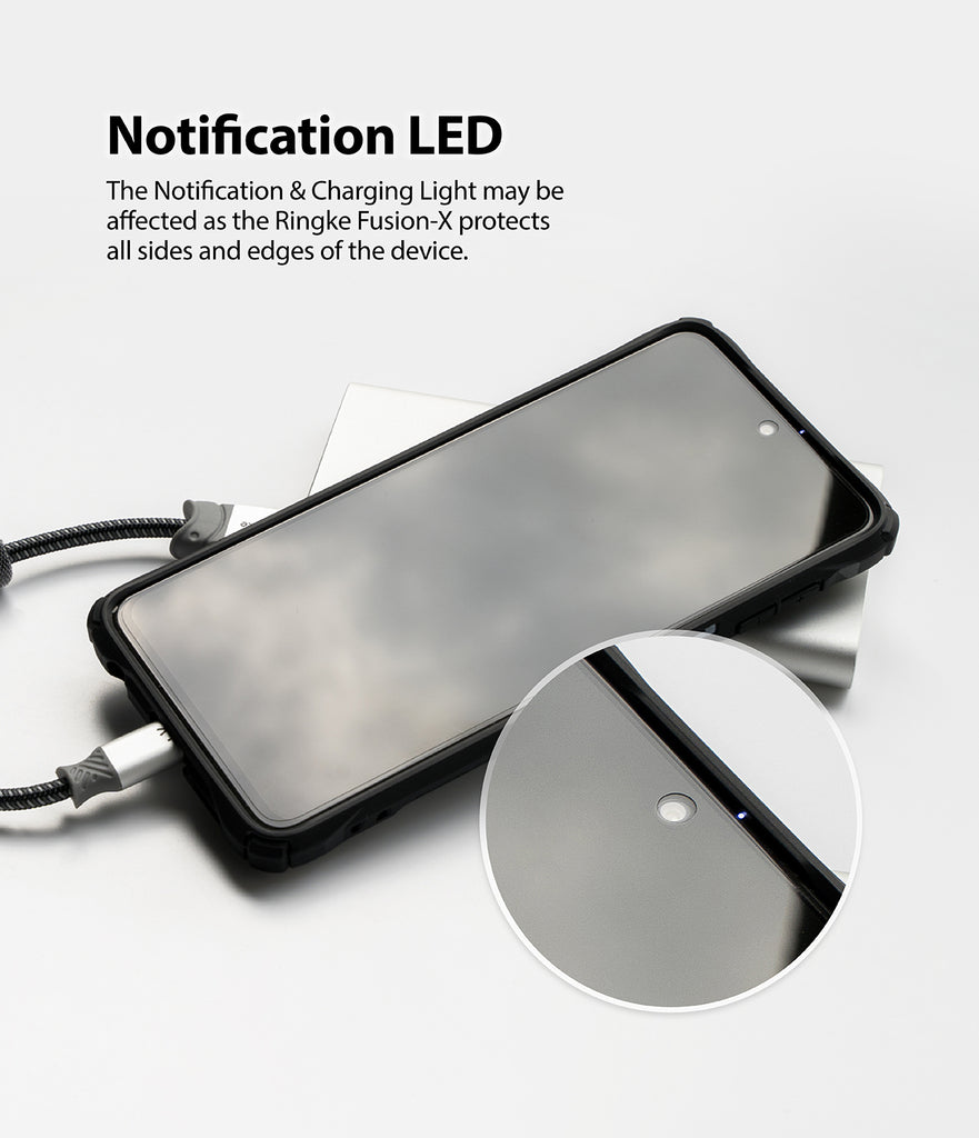 notification LED may be affected by the case