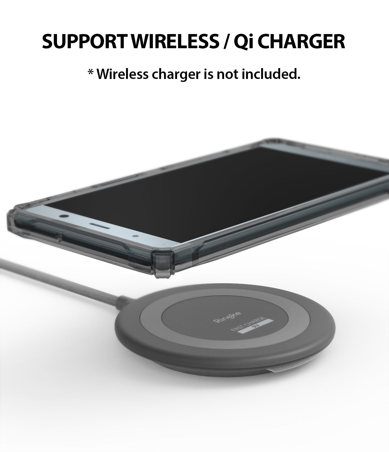 support wireless / qi charge