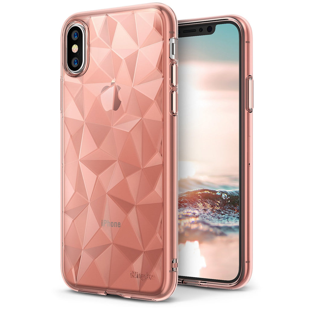 apple iphone x ringke air case prism case rose gold crystal