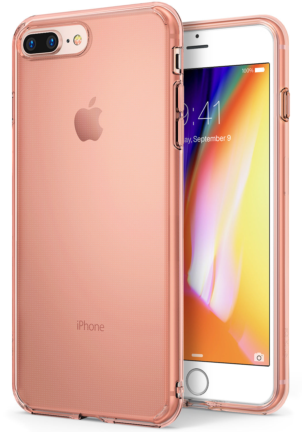 ringke air lightweight flexible tpu thin case cover for iphone 7 plus 8 plus main rose gold