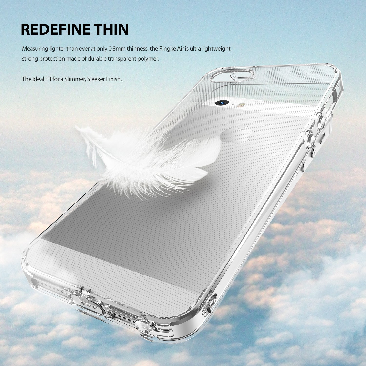 iPhone SE / 5S / 5 Case, Ringke® [AIR] Extreme Lightweight & Thin Transparent Soft Flexible TPU Case