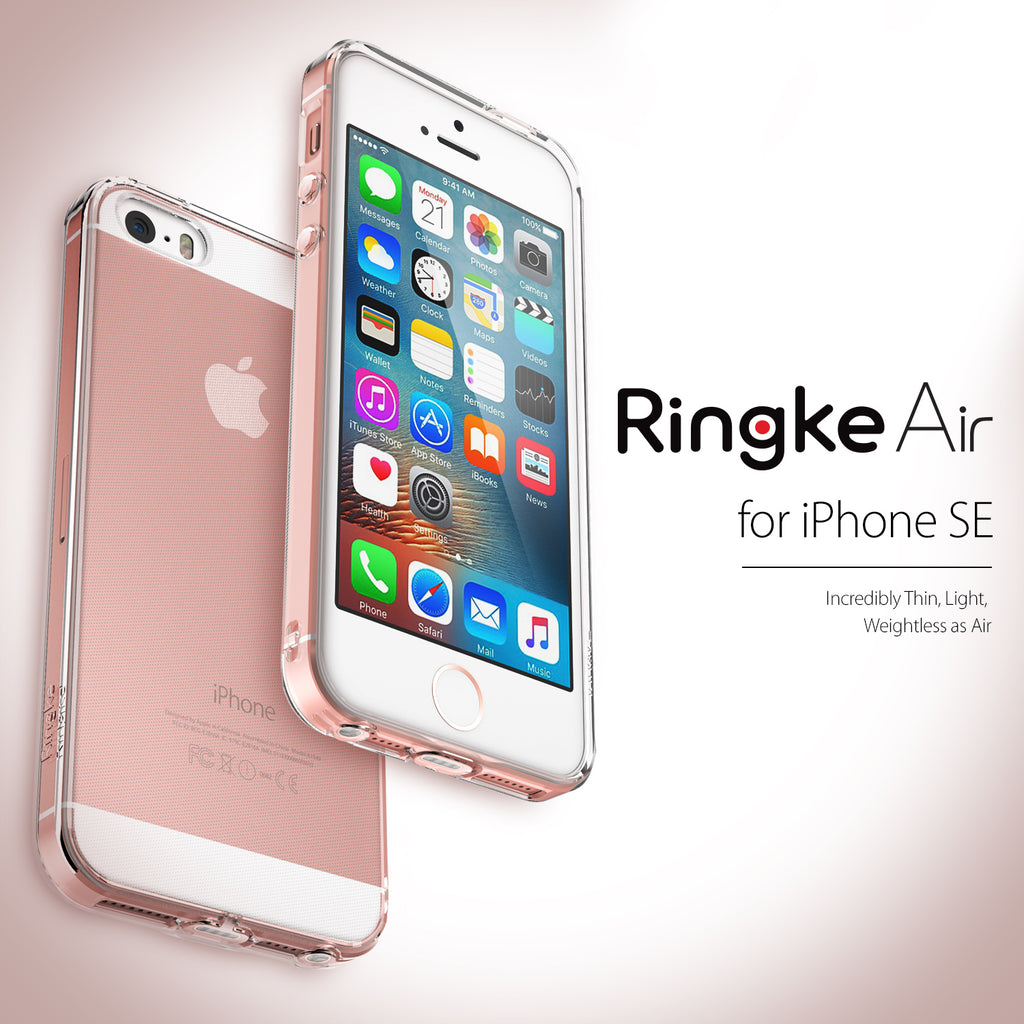 ringke air lightweight flexible tpu case cover for iphone se 5s 5 rose gold crystal