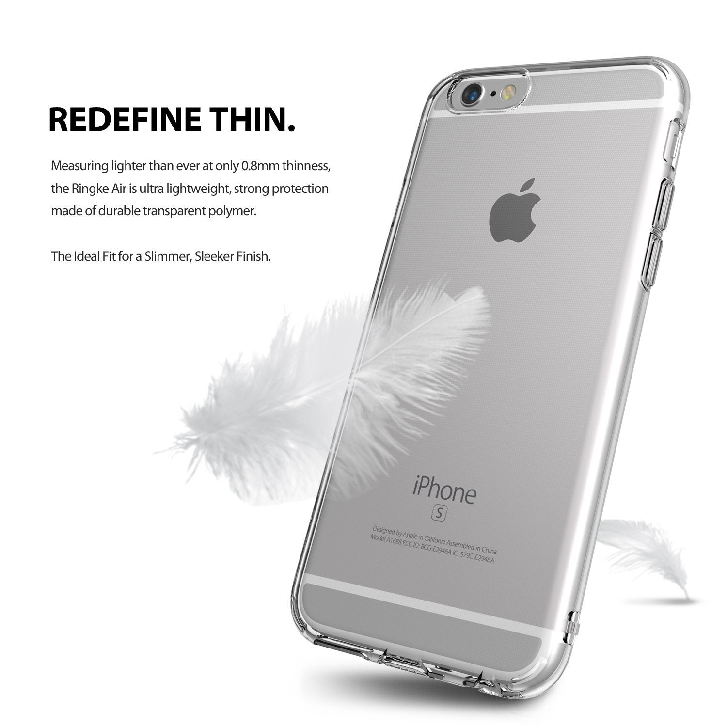 ringke air lightweight thin slim case cover for iphone 6 6s main dust cap