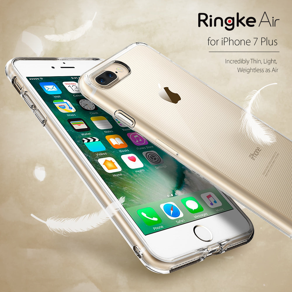 iPhone 7 Plus Case, Ringke® [AIR] Extreme Lightweight & Thin Transparent Soft Flexible TPU Case