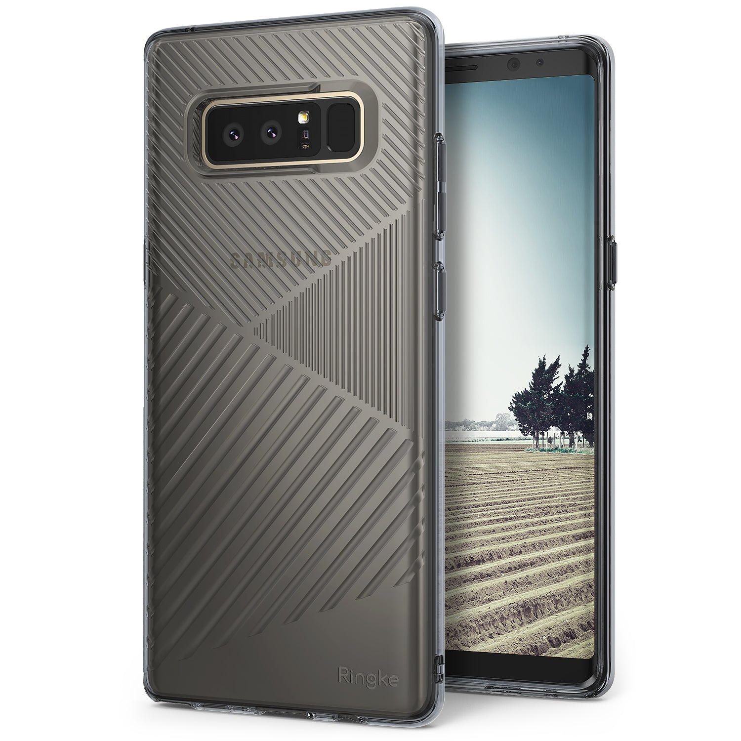 samsung galaxy note 8 ringke bevel case smoke black