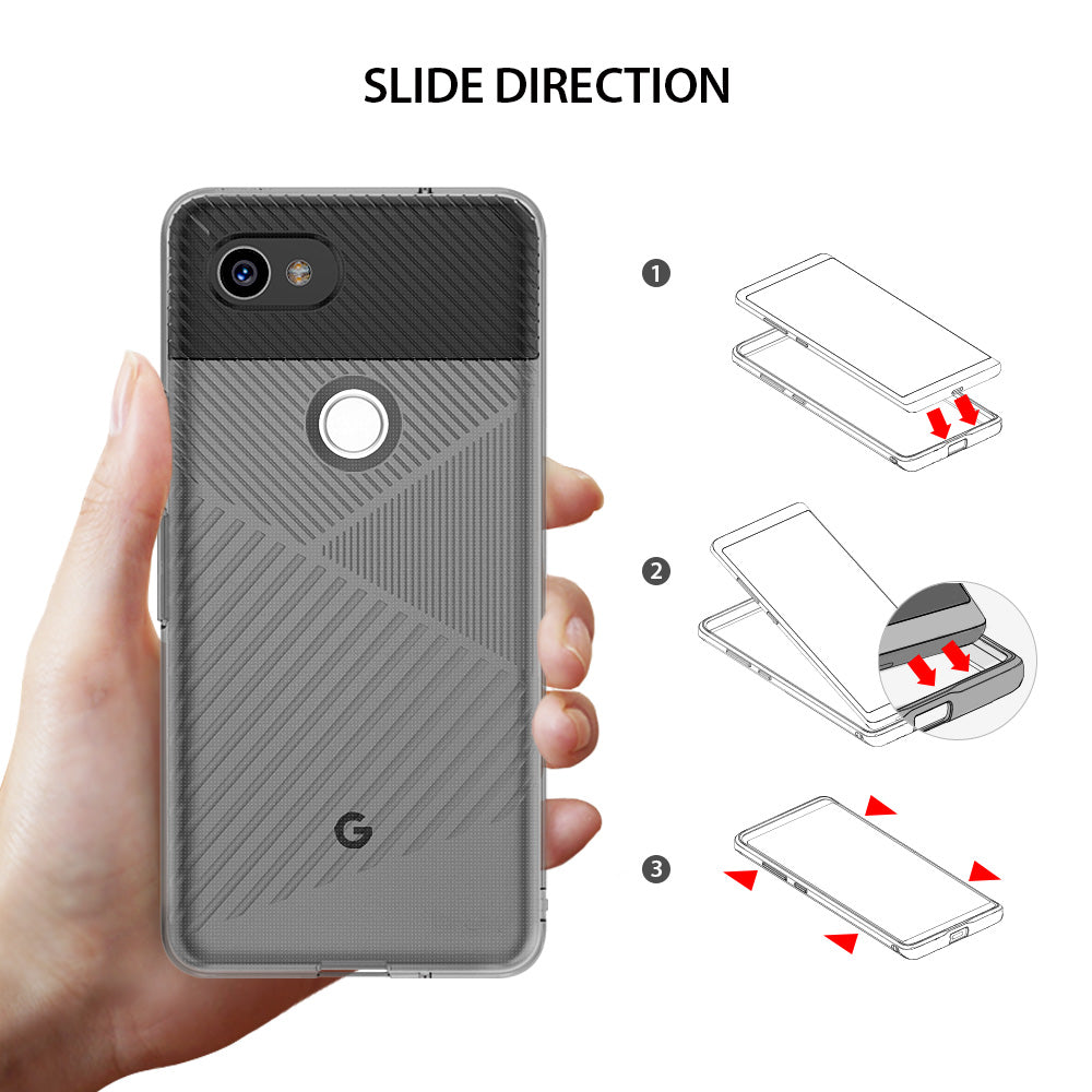 ringke bevel designed thin lightweight tpu case cover for google pixel 2 xl main slide direction