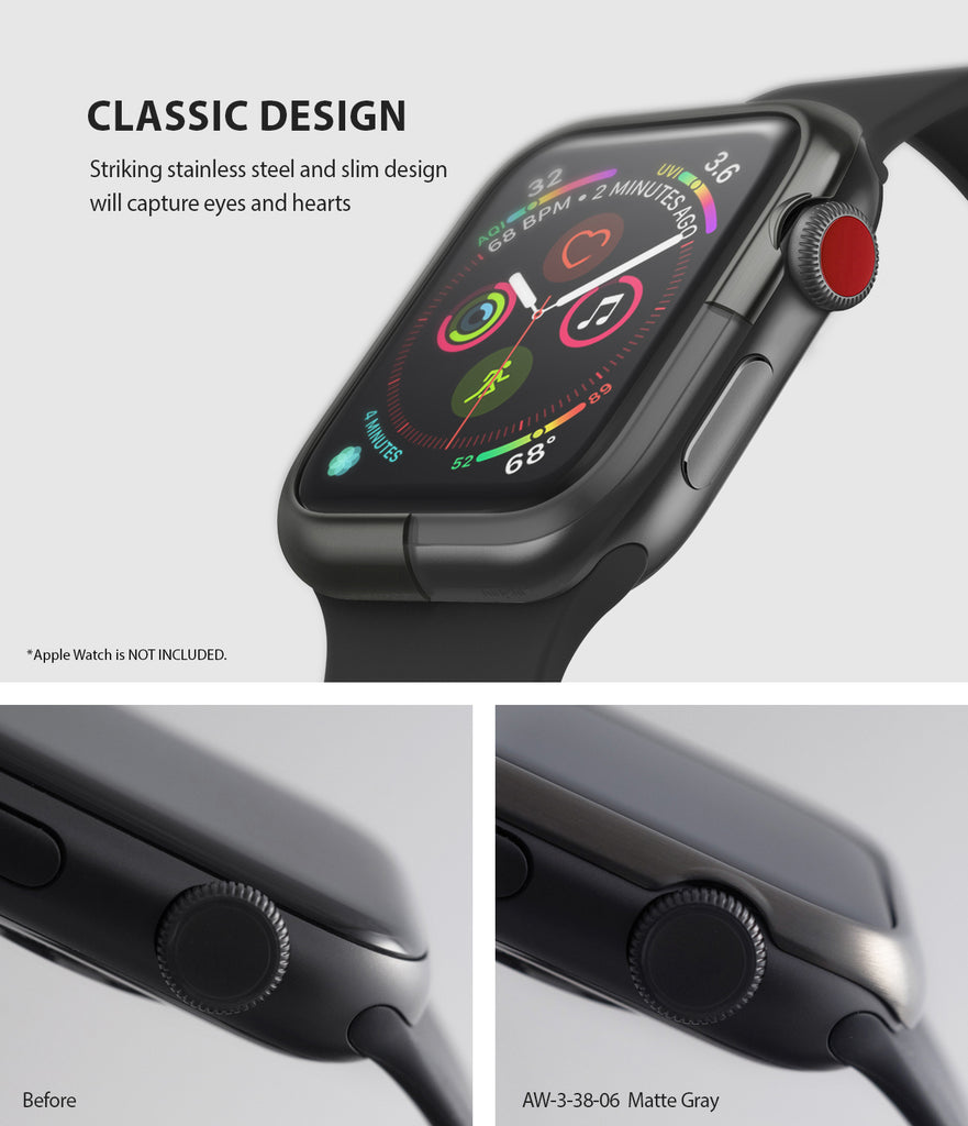 apple watch 3 2 1 38mm case ringke bezel styling stainless steel frame cover 38-06 classic design