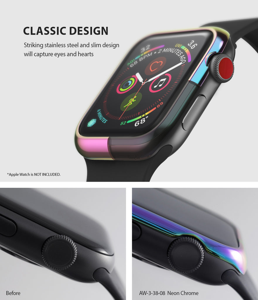 apple watch 3 2 1 38mm case ringke bezel styling stainless steel frame cover 38-08 classic design