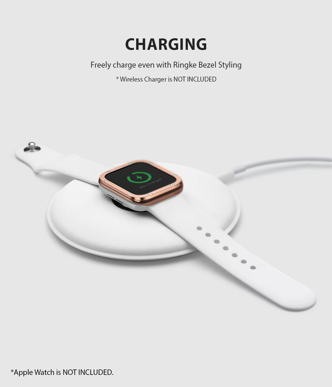 apple watch 3 2 1 38mm case ringke bezel styling stainless steel frame cover 38-41 wireless charging compatible