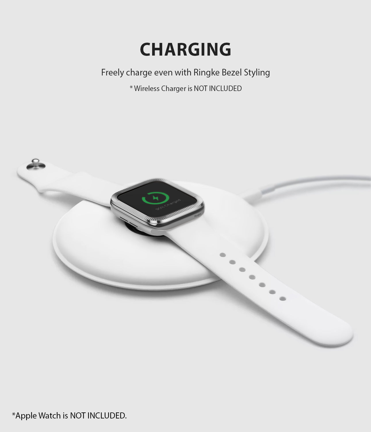 apple watch 3 2 1 38mm case ringke bezel styling stainless steel frame cover 38-42 wireless charging compatible
