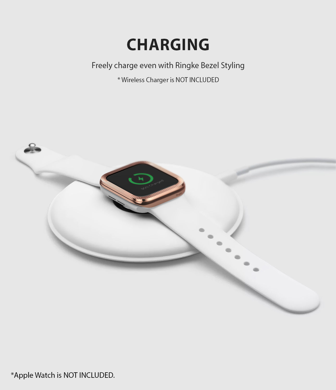 apple watch 3 2 1 38mm case ringke bezel styling stainless steel frame cover 38-43 wireless charging compatible