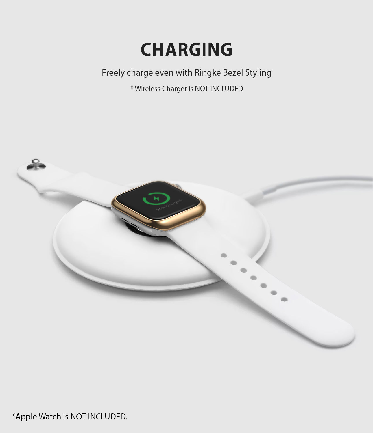 apple watch 3 2 1 42mm case ringke bezel styling stainless steel frame cover 42-05 wireless charging