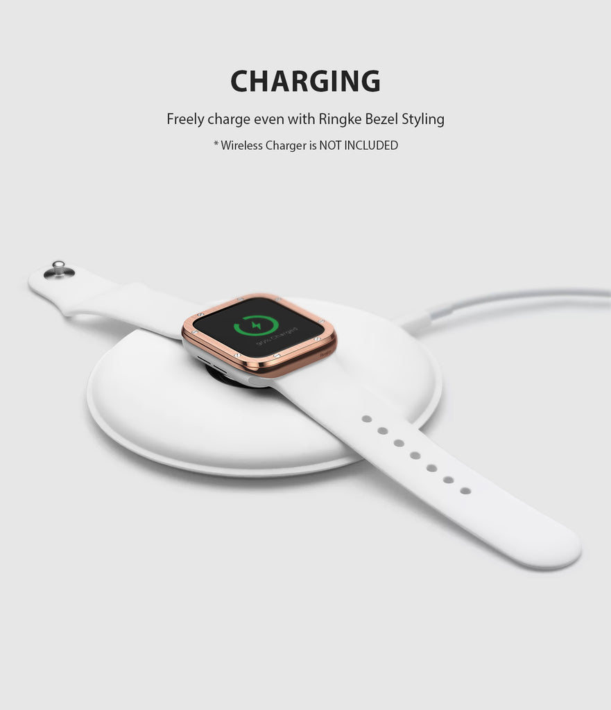 apple watch 3 2 1 42mm case ringke bezel styling stainless steel frame cover 42-41 wireless charging compatible