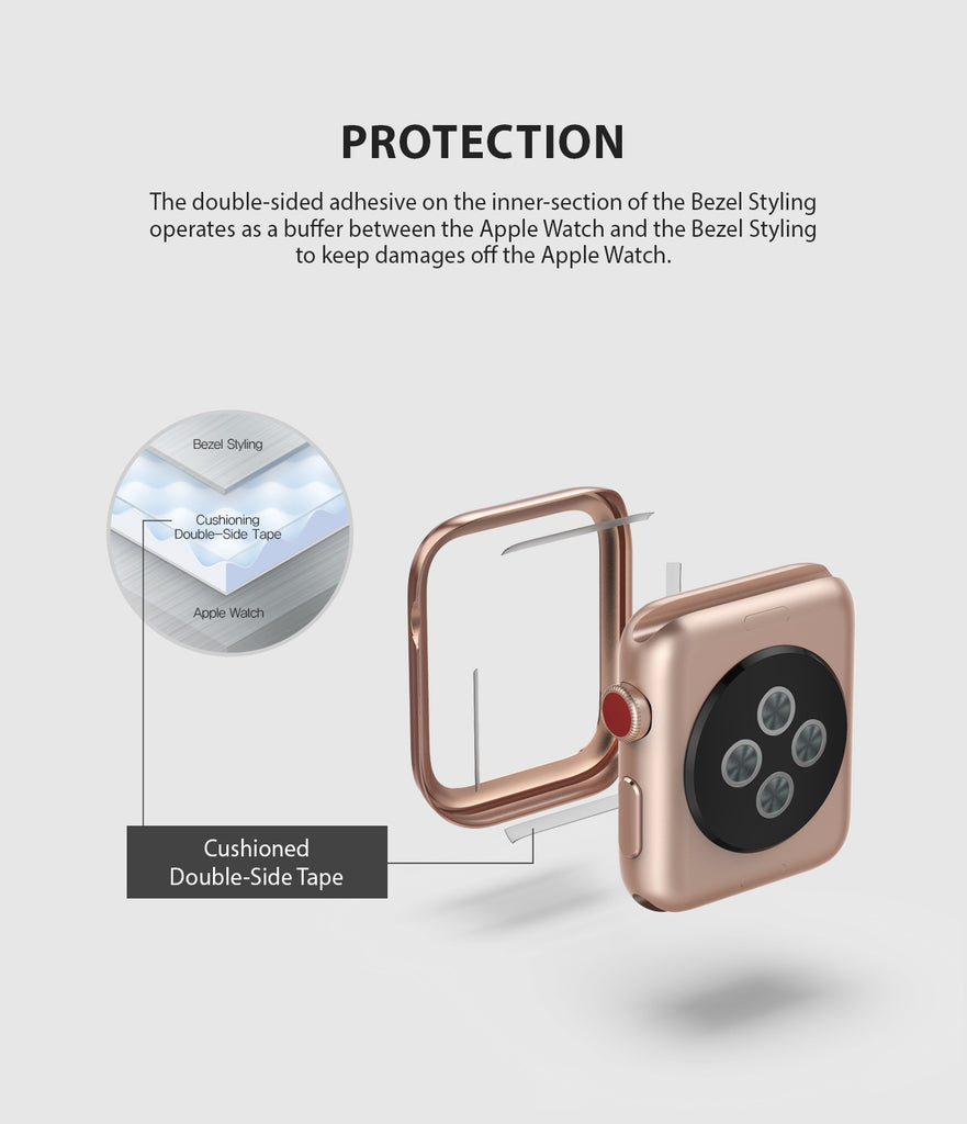 apple watch 3 2 1 42mm case ringke bezel styling stainless steel frame cover 42-41 protection