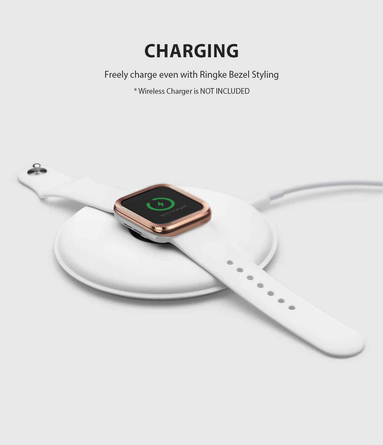 apple watch 3 2 1 42mm case ringke bezel styling stainless steel frame cover 42-43 wireless charging compatible