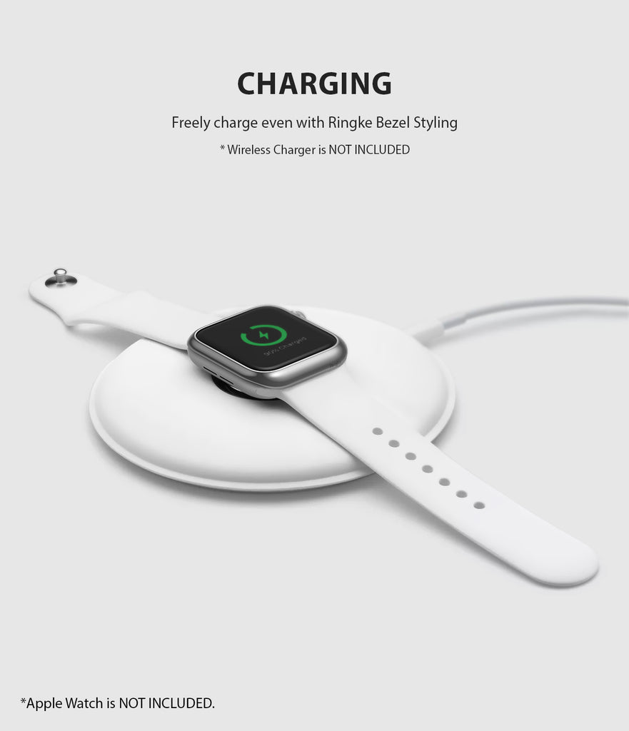 apple watch 4 44mm case ringke bezel styling stainless steel frame cover 44-01 wireless charging
