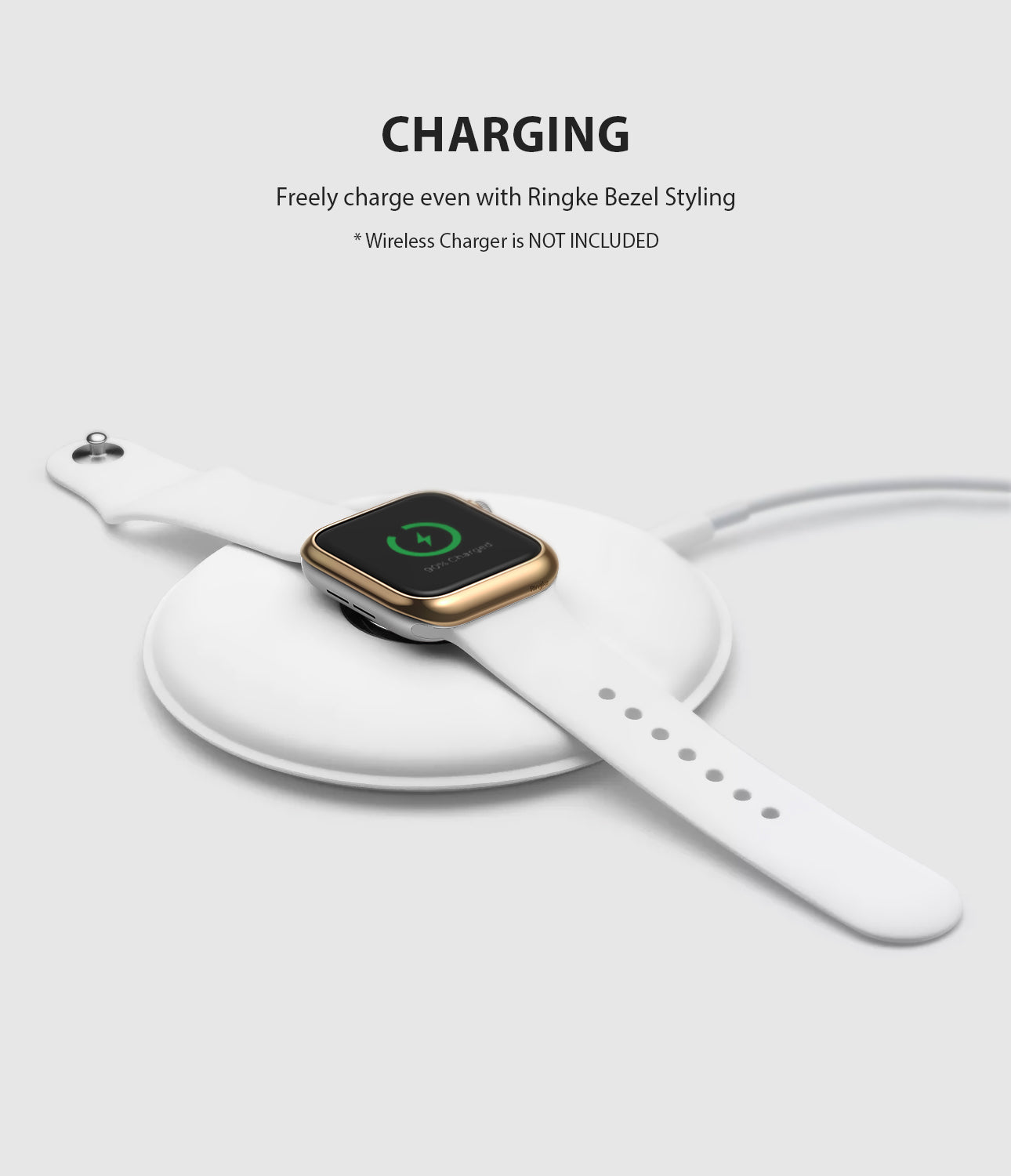 apple watch 4 44mm case ringke bezel styling stainless steel frame cover 44-05 wireless charging