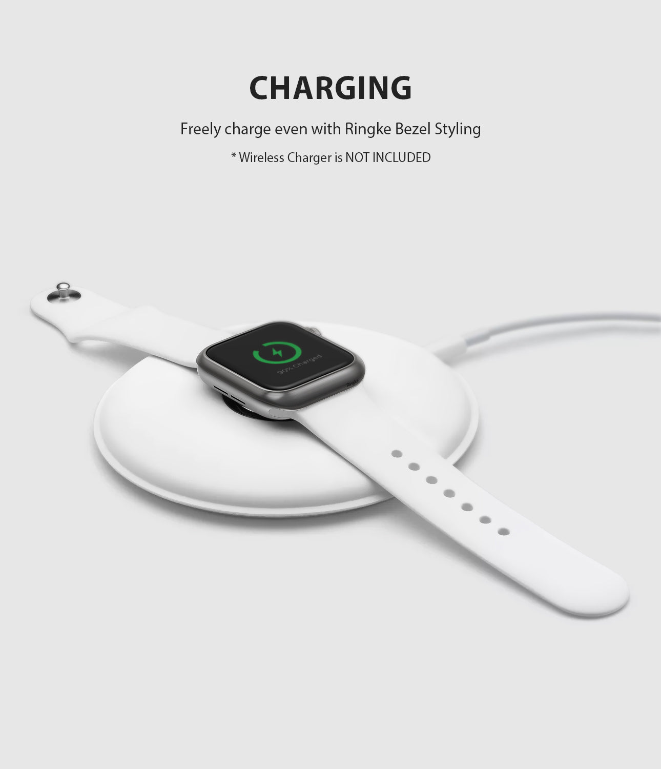 apple watch 4 44mm case ringke bezel styling stainless steel frame cover 44-06 wireless charging