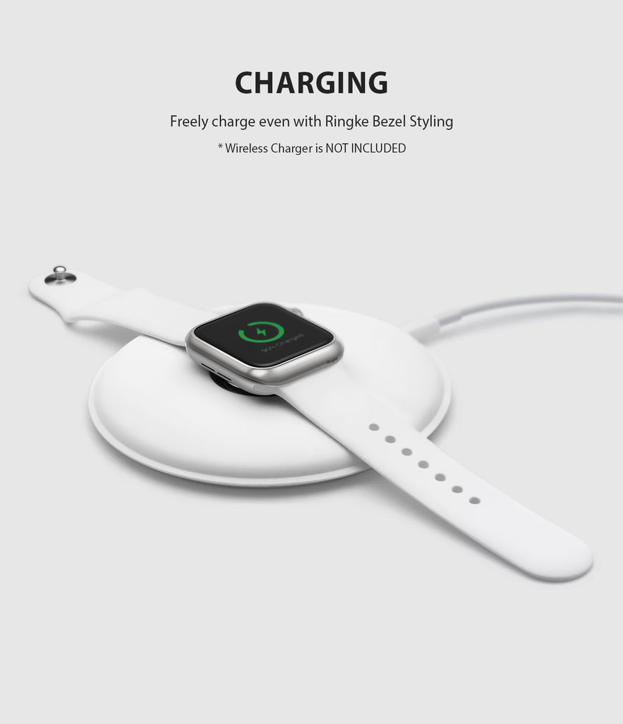 apple watch 4 44mm case ringke bezel styling stainless steel frame cover 44-09 wireless charging