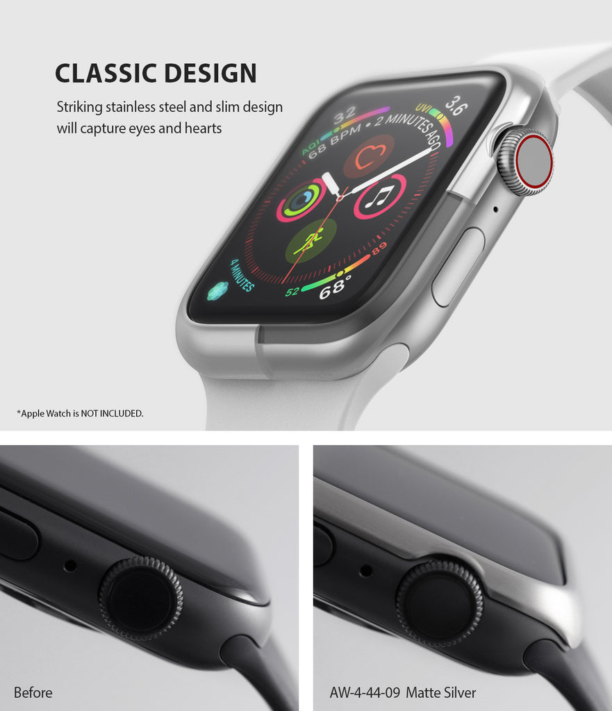 apple watch 4 44mm case ringke bezel styling stainless steel frame cover 44-09 classic design