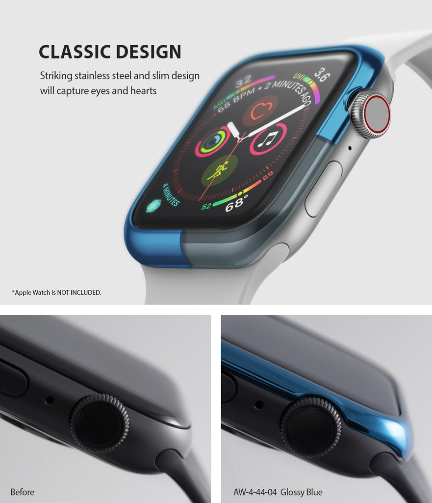 apple watch 4 44mm case ringke bezel styling stainless steel frame cover 44-04 classic design