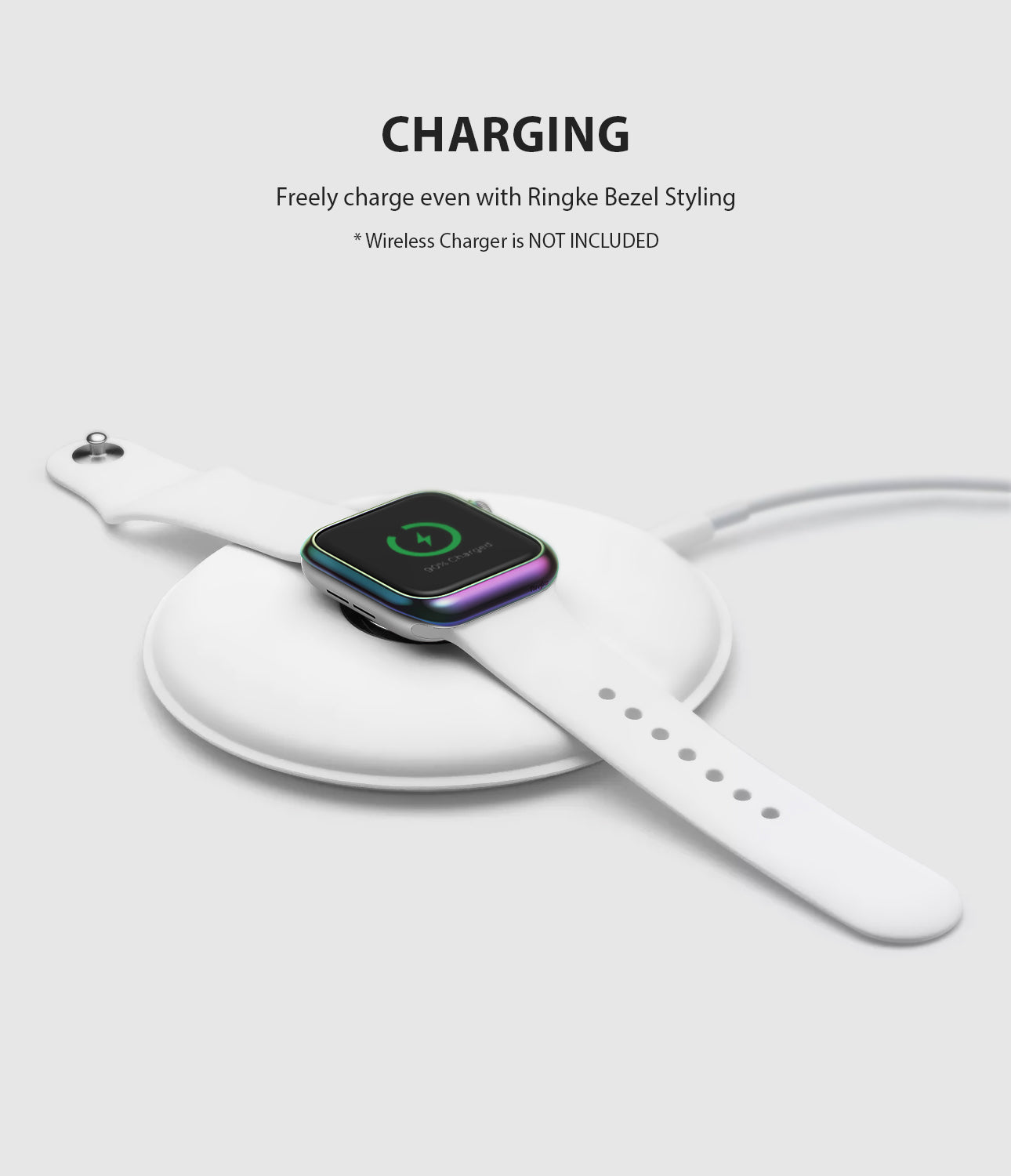 apple watch 4 44mm case ringke bezel styling stainless steel frame cover 44-08 wireless charging