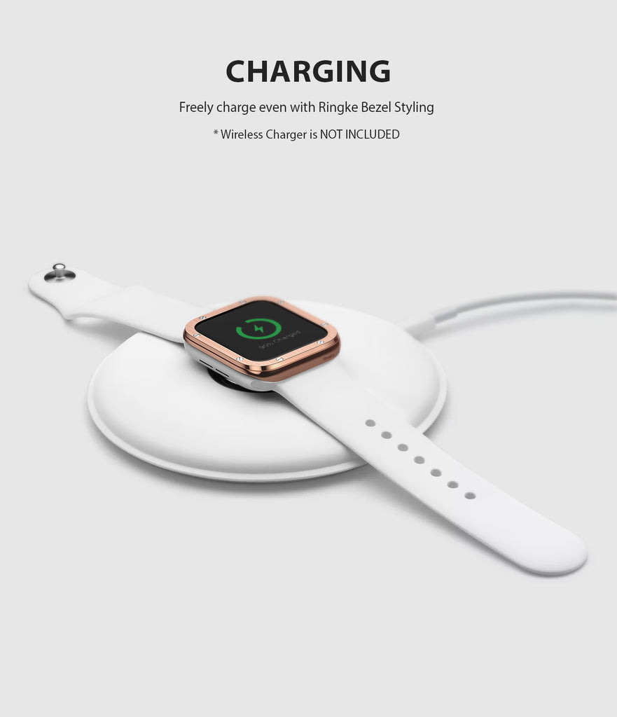 apple watch 4 44mm case ringke bezel styling stainless steel frame cover 44-41 wireless charging compatible