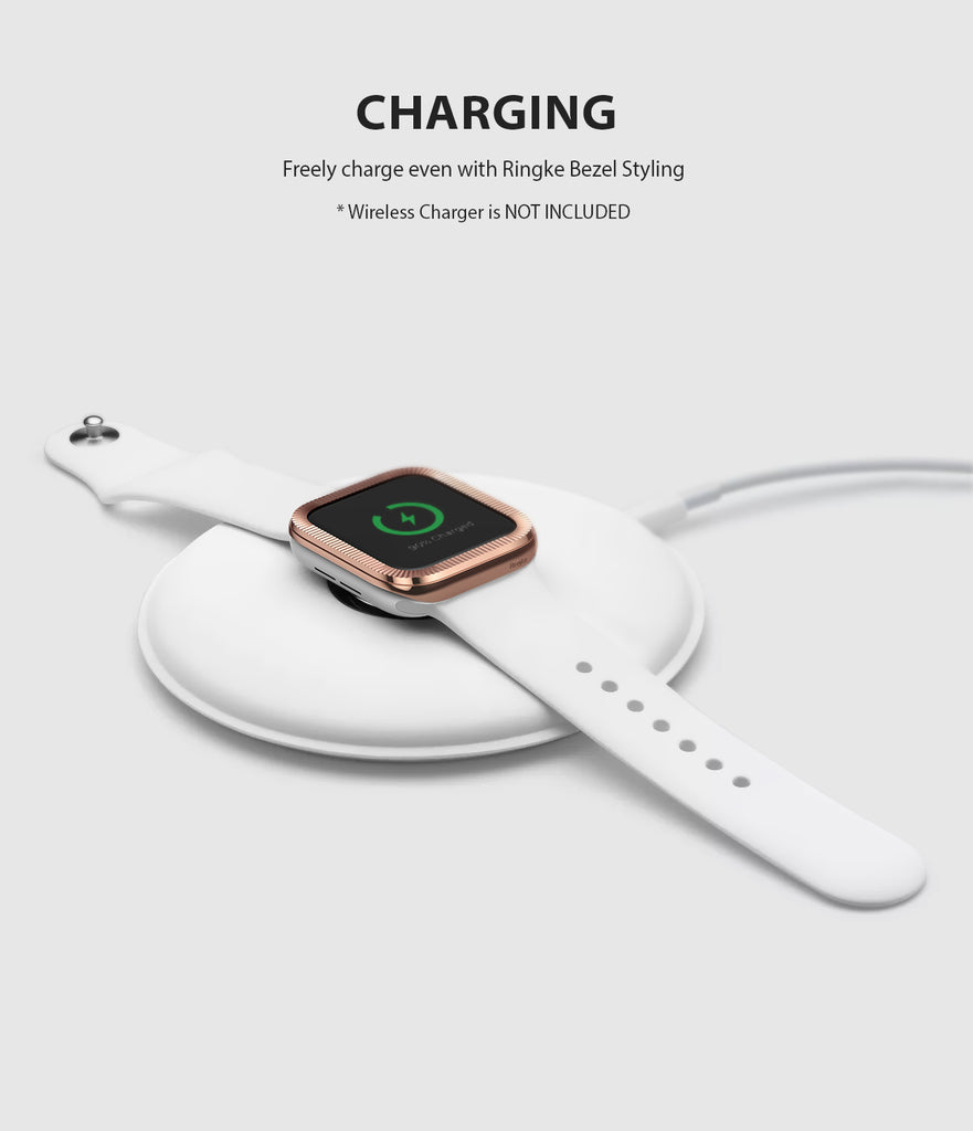 apple watch 4 44mm case ringke bezel styling stainless steel frame cover 44-43 wireless charging compatible