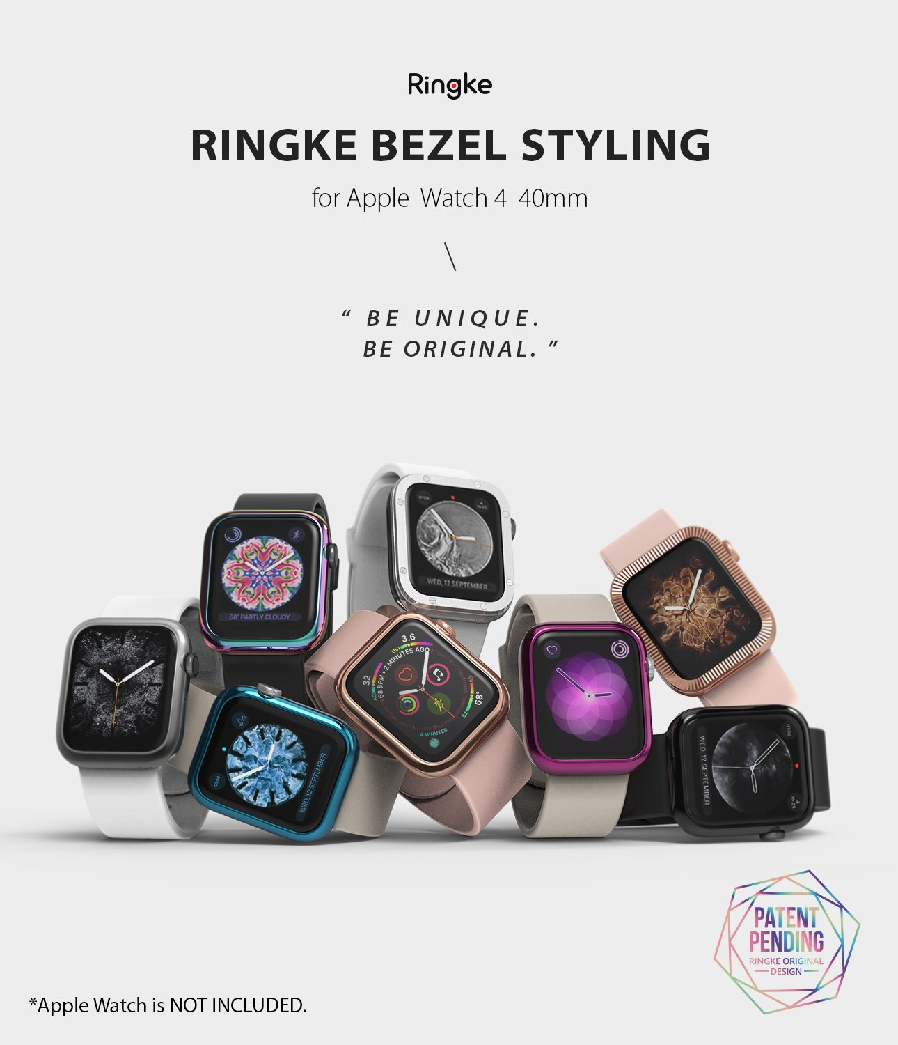 ringke bezel styling for apple watch series 6 / 5 / 4 / SE 40mm