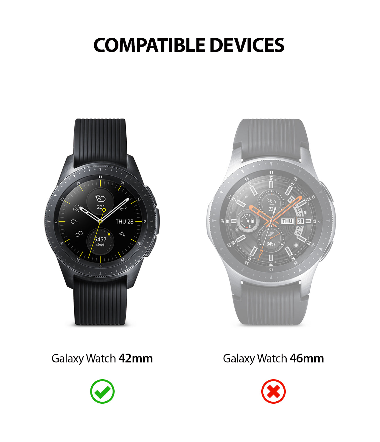 only compatible with galaxy watch 42mm