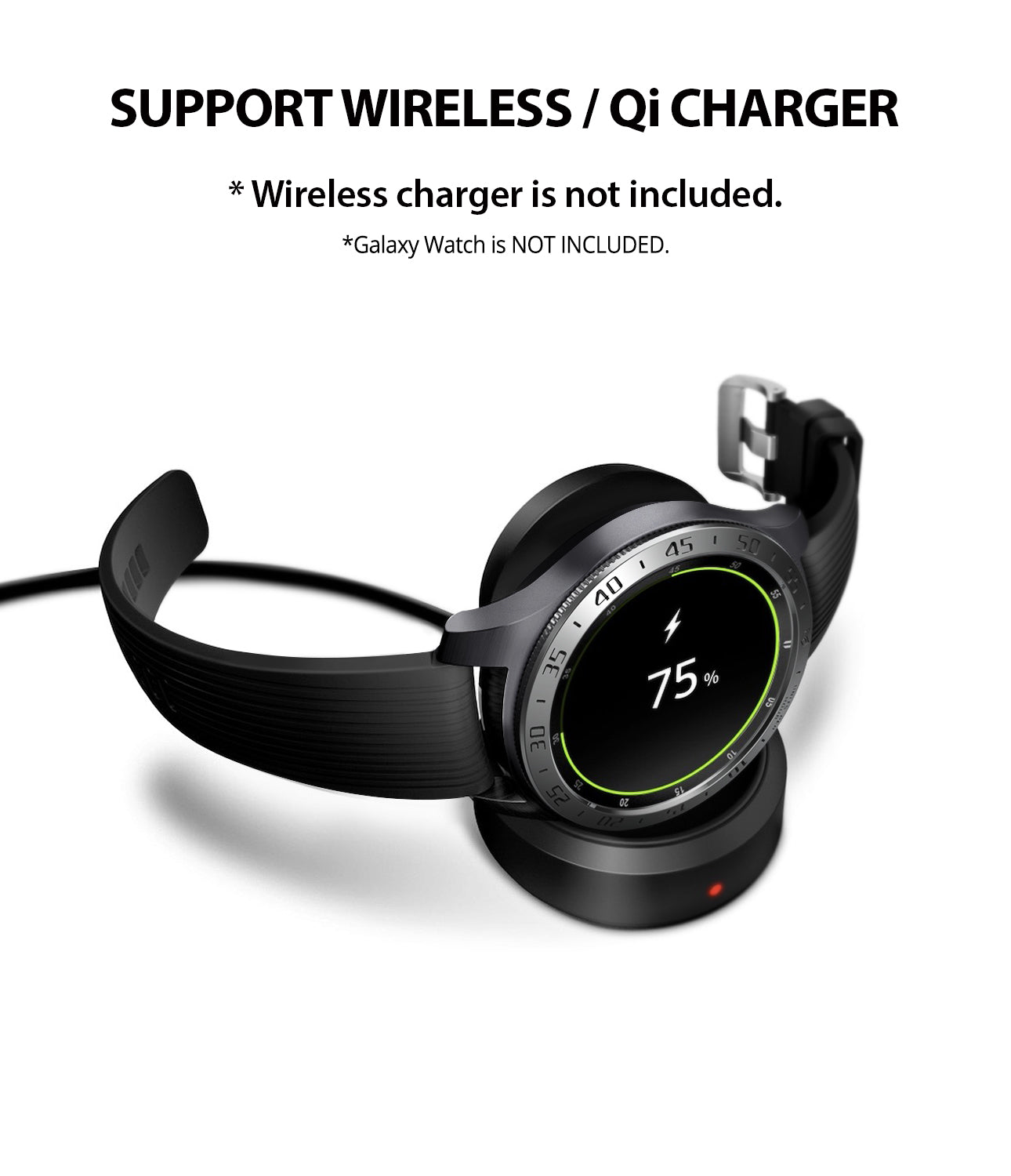 ringke bezel styling compatible with wireless, qi charging without removing the cover