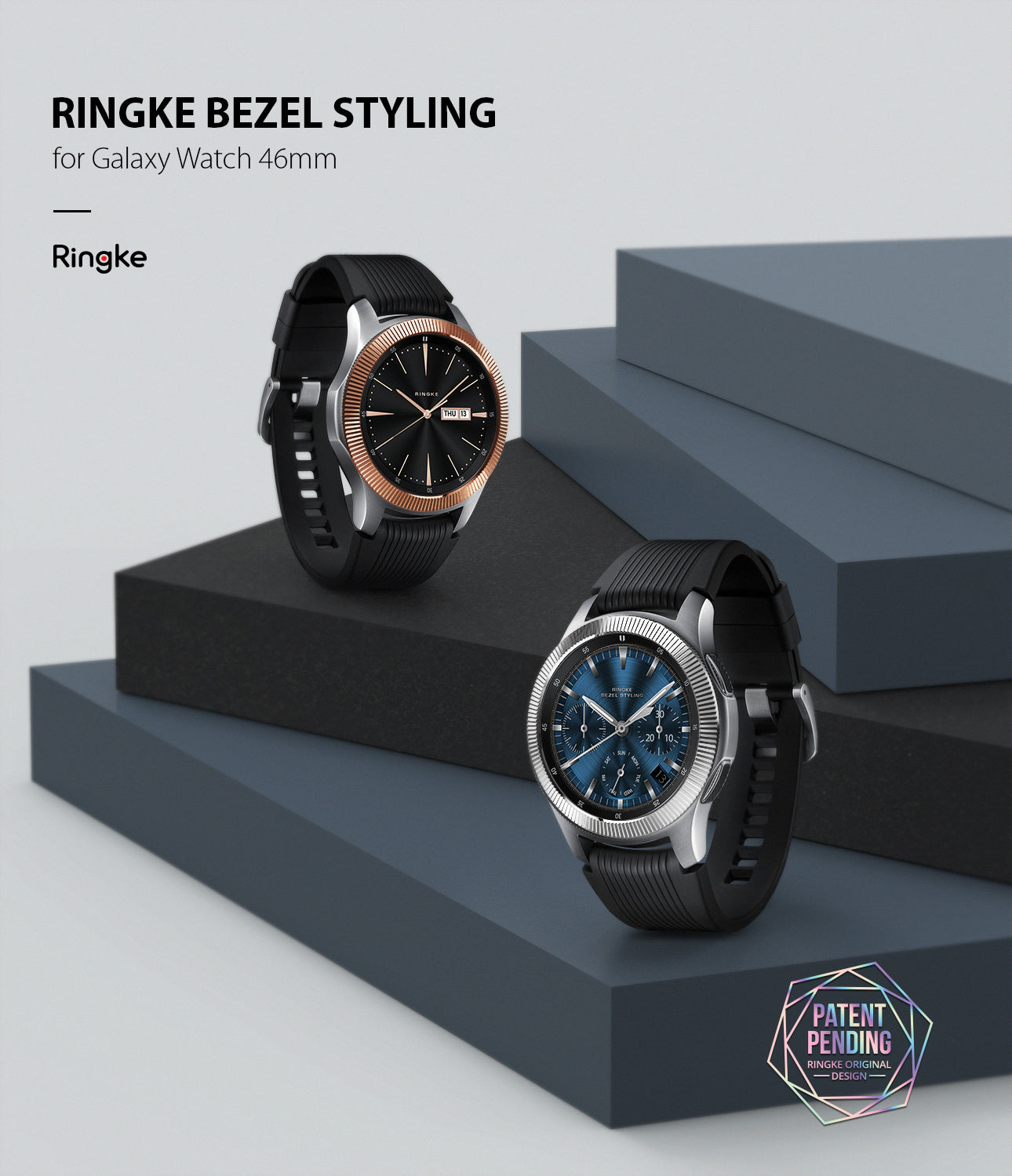 ringke bezel styling for galaxy watch 46mm stainless steel superior edition