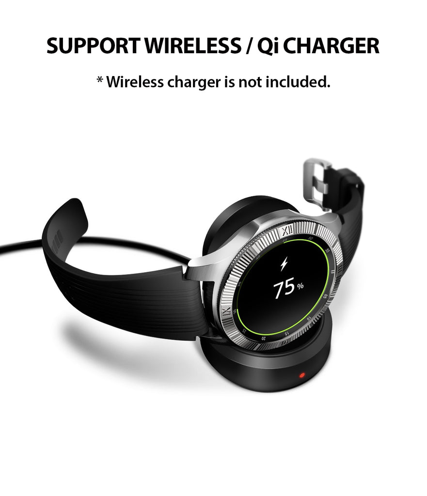 bezel styling supports wireless, qi charging without removing the cover