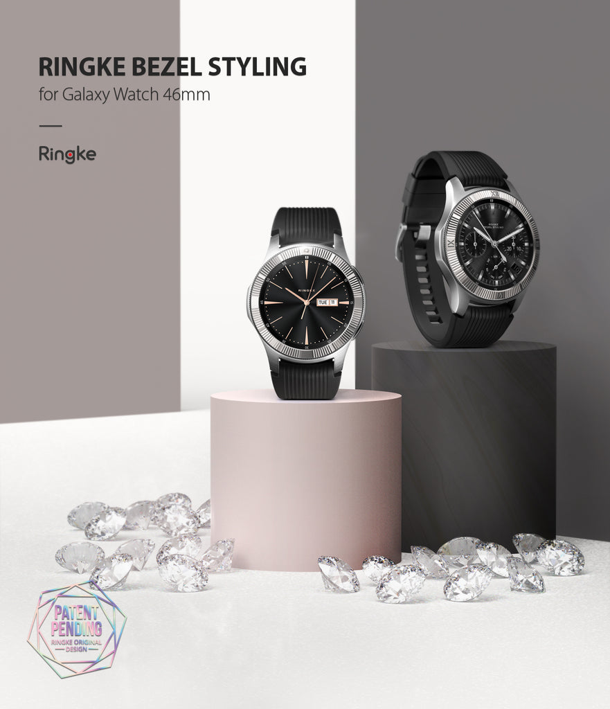 ringke bezel styling superior staintless steel designed for samsung galaxy watch 46mm, gear s3 frontier and classic