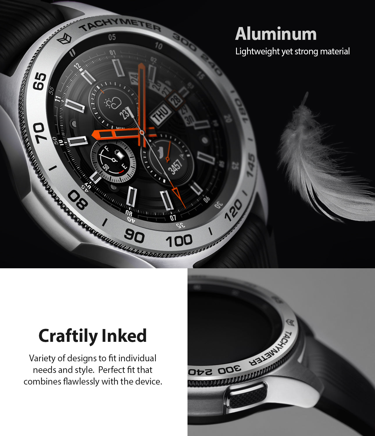 ringke bezel styling made with lightweight yet strong aluminium
