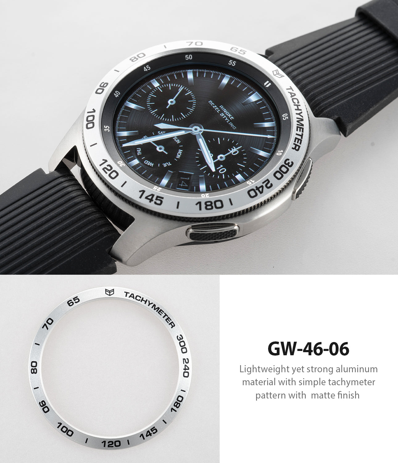 simple tachymeter pattern with matte finish for samsung galaxy watch 46mm
