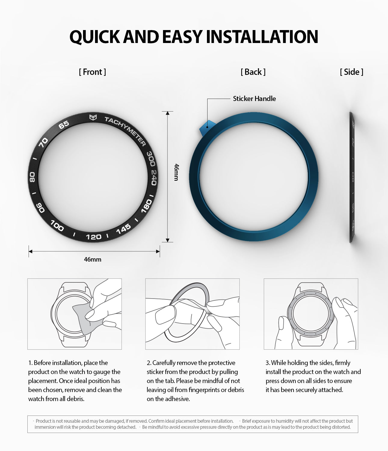 quick and easy installation guide of bezel styling on galaxy watch 46mm