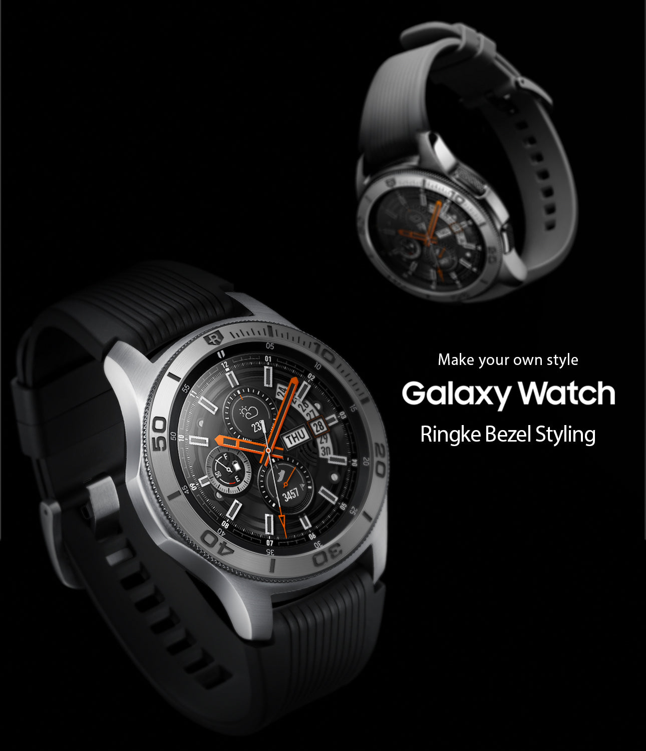 ringke bezel styling case cover designed for galaxy watch 46mm, gear s3 frontier and classic