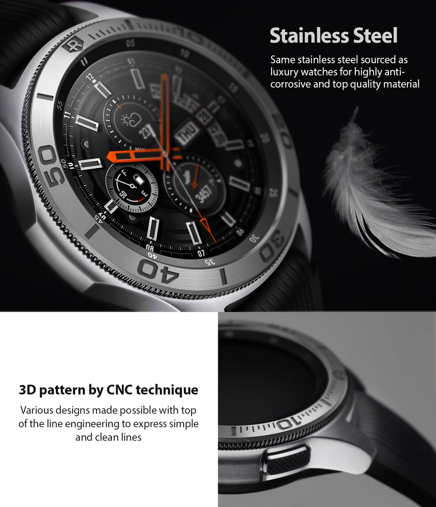 bezel styling made of stainless steel, highly anti corrosive and top quality material with 3d pattern marking by cnc technique