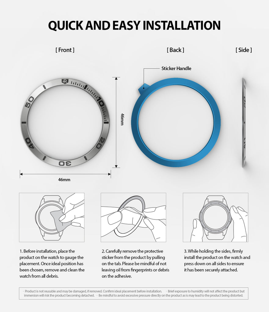 quick and easy installation guide of galaxy watch 46mm using powerful 3m adhesive tapes