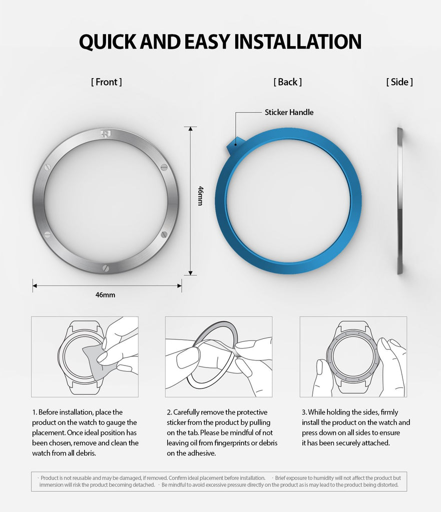 quick and easy installation guide of the bezel styling on the galaxy watch 46mm