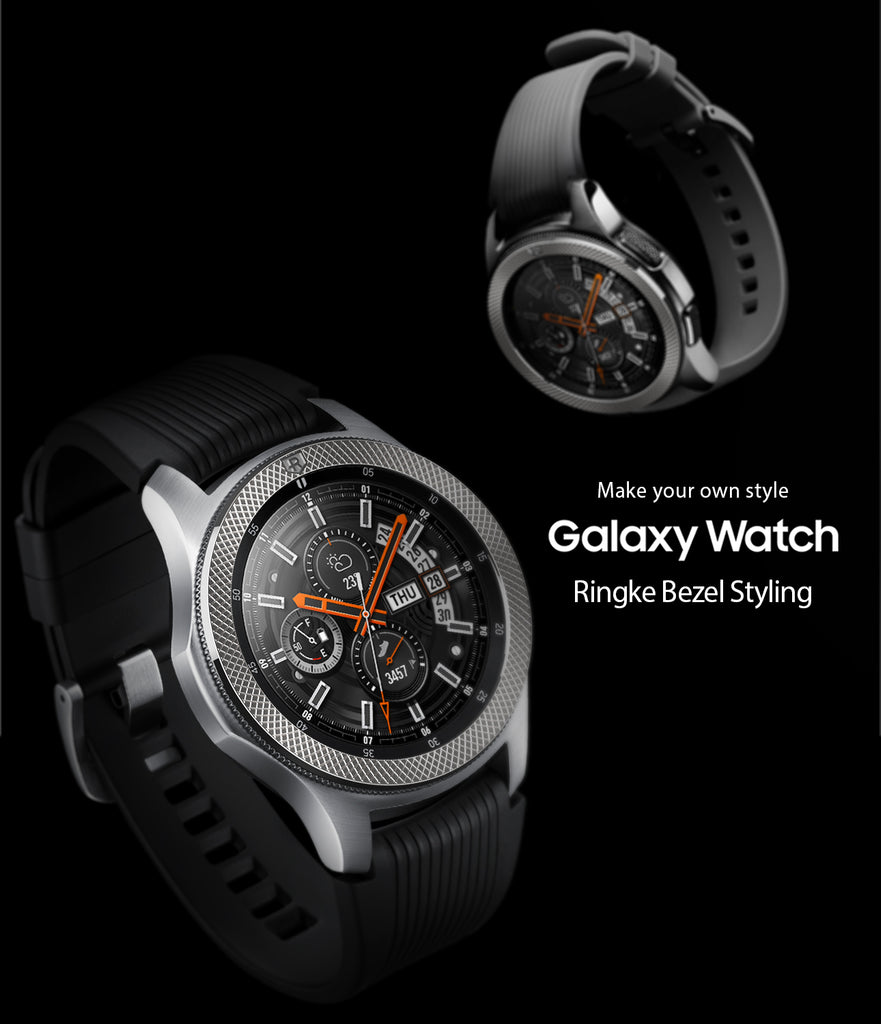 image of ringke bezel styling stainless steel superior edition on galaxy watch 46mm