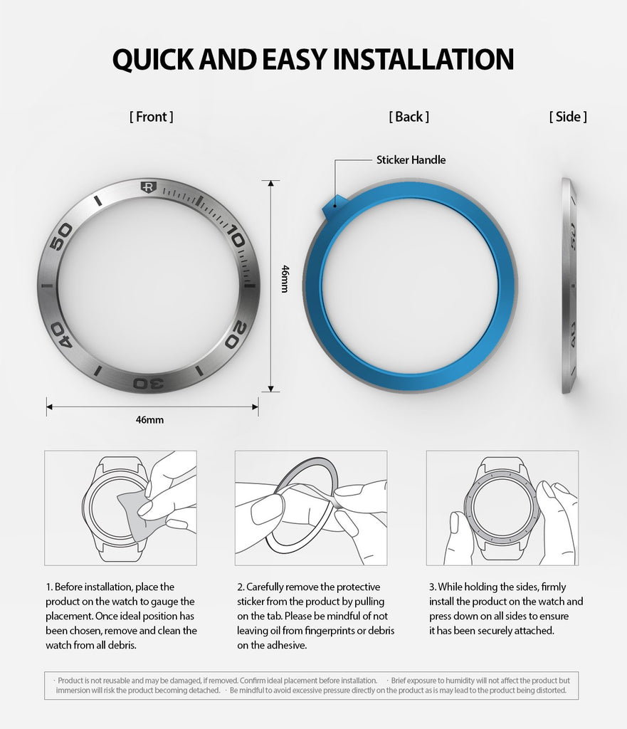 ringke bezel styling for samsung galaxy watch 46mm silver stainless steel installation guide