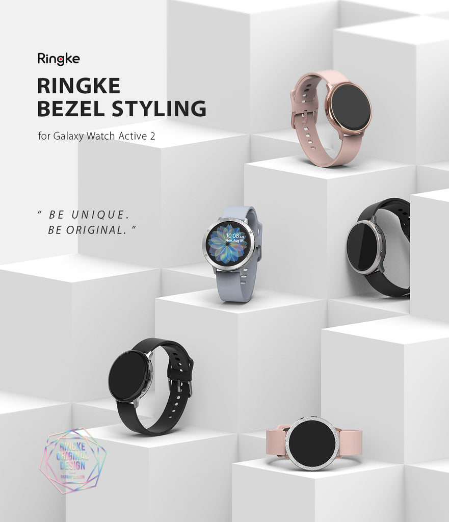 ringke bezel styling for galaxy watch active 2 44mm stainless steel various colors and styles