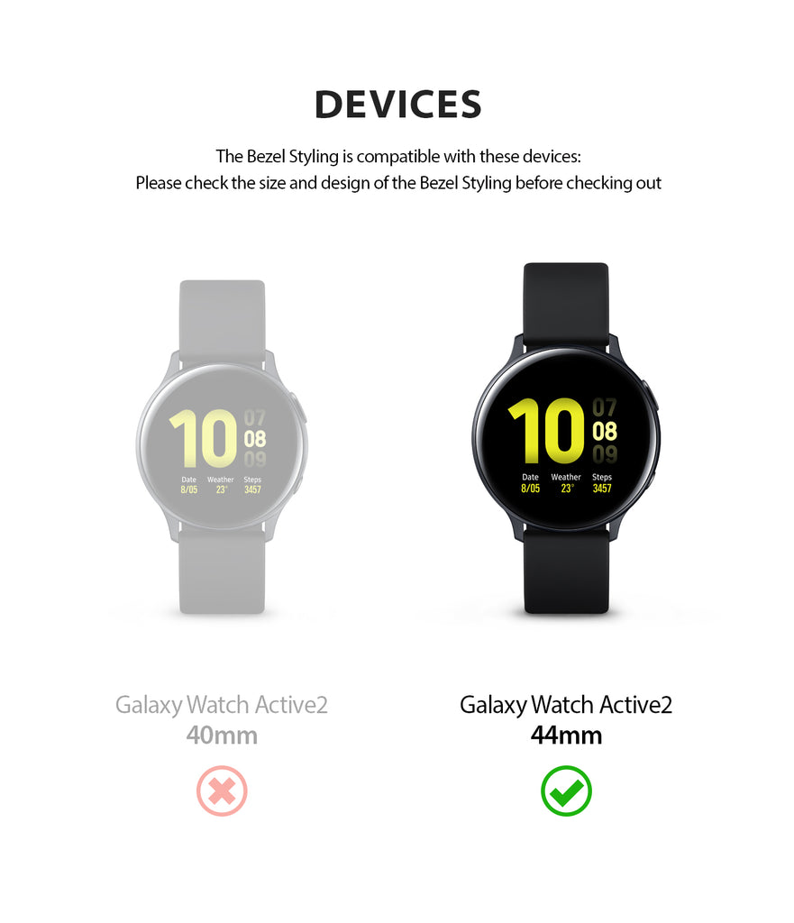 ringke bezel styling for galaxy watch active 2 44mm stainless steel compatibility